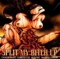 Cuntscrape/Goresluts/Rezume/Morbid Vision - Split My Bitch Up [CD]